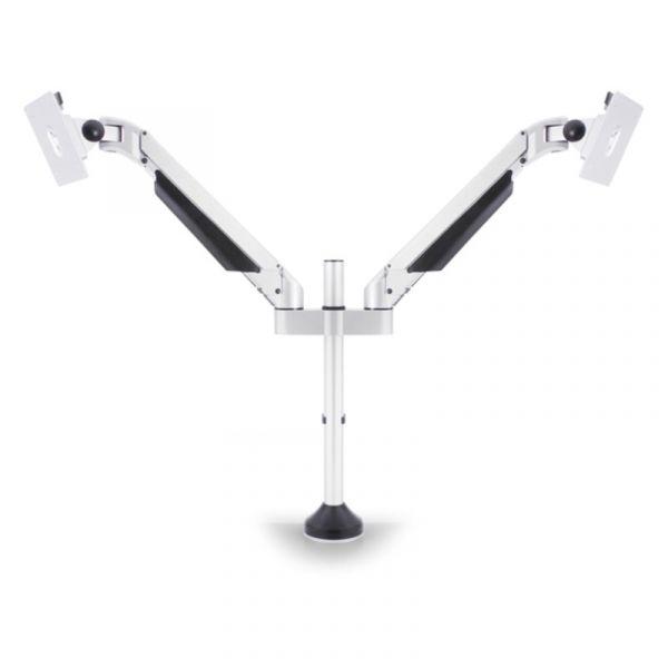 HAGOR Monitor Tischhalterung Gas lift Arm|Dual weiss