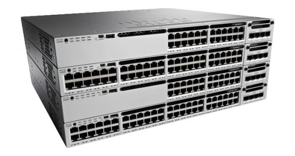 Cisco Switch 48Port GigabitEthernet Stackable L3 managed WS-C3850-48T-E