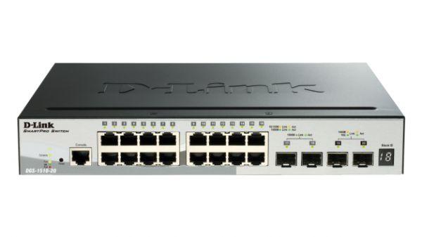 D-Link Switch 52Port Gigabit (48xPoE) + 4x SFP+ 10Gigabit L3 SmartManaged DGS-1510-52XMP