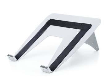 HAGOR Laptophalterung für Gas lift Arm silber