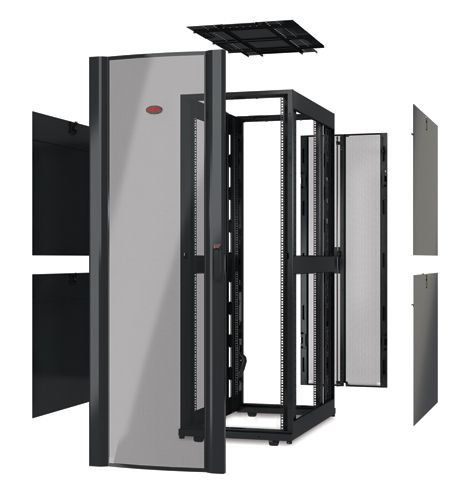 APC NetShelter SX Serverschrank ohne Tür (B/T:750x1200mm) 48U schwarz AR3357X610