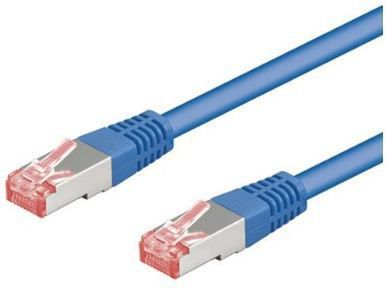 Goobay Patchkabel Cat6 S/FTP RJ45 0,5m blau 95462