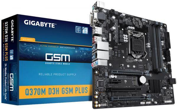 MB Gigabyte So1151 GA-Q370M-D3H GSM Plus 4x DDR4 RAID mATX vPro