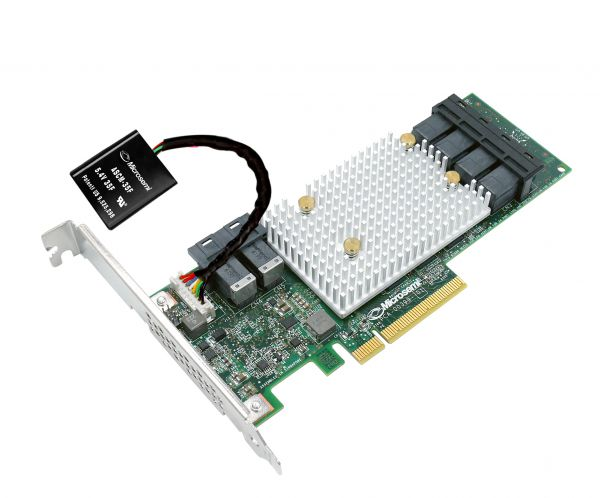 Server controller Adaptec SmartRAID 24-Kanal 3154-24i SAS 12Gb/s inkl. BBU   6x SFF-8643 intern   RA