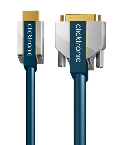 Clicktronic Advanced HDMI auf DVI-D 24+1 Kabel 3,00m 70542