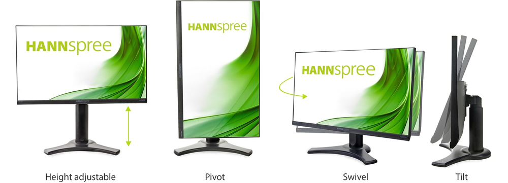 4 IN 1 HEIGHT ADJUSTABLE STAND: FIND THE SCREEN POSITION YOU PREFER